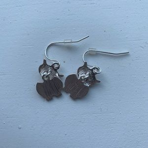 Claire's Jewelry - Adorable purple & colorful owl drop earrings